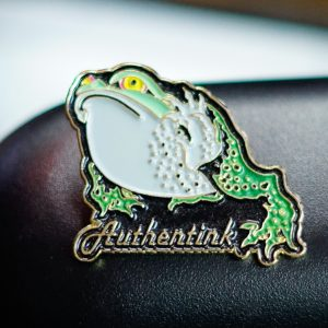 Authentink Frog Pin