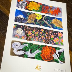 Horisumi X Archie Rose Rare Gin Print