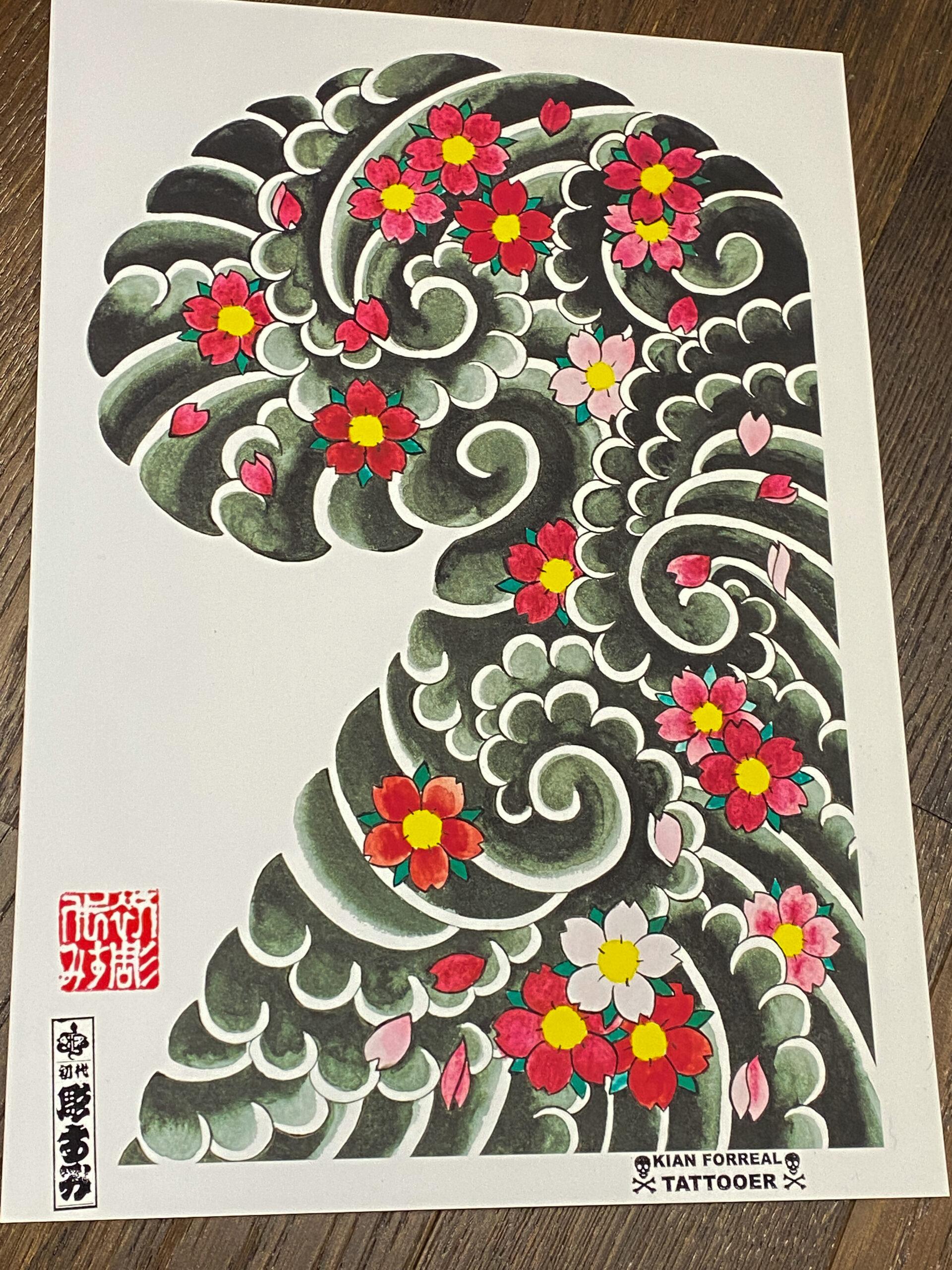 Vintage Sakura Fubuki Print
